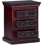Ityaka Bed Side Table in Passion Mahogany Finish by Mudramark