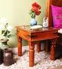 Valana End Table in Honey Oak Finish by Mudramark