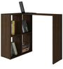 Kyoko Study Desk with Book Shelf in Tobacco Finish by Mintwud
