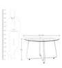 Four Seater Dining Table with Glass Top by Tube Style