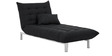 L-Shaped Sofa Bed in Black Colour by Furny