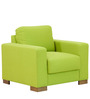 L'Aquila One Seater Sofa in Citron Green Colour by CasaCraft