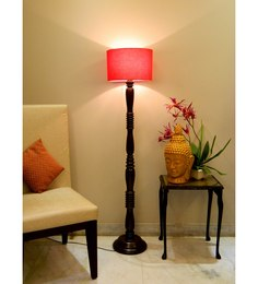 Lamp Post Red Poly Cotton Floor Lamp - 1492730