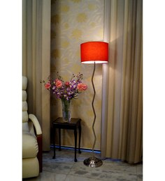 Lamp Post Red Poly Cotton Zig Zag Floor Lamp - 1492720