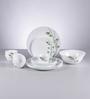 La Opala Diva Green Foliage Opal Ware 19-piece Dinner Set