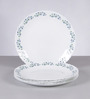 La Opala Diva Lavender Dew White Opal Ware Dinner Plate Set of 6