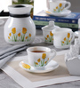 La Opala Diva Tulip Passion Opal Ware Dinner Set - Set Of 64