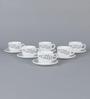 La Opala Iris Regular Misty Drop Opal Ware 160 ML Cup and Saucer - Set of 6