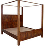 Elkhorn King Size Poster Bed In Honey Oak Finish by Woodsworth