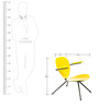 La-Simone Chair in Yellow Colour by Tube Style
