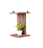 La Stella Brown Wood & MDF 2-Shelf Corner Hung Wall Shelf