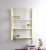 La Stella Cream Wood & MDF Small Wall Shelf