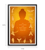 Lab No.4 - The Quotography Department Paper & PU Frame 11.9 x 16.7 Inch Buddha Hand Gestures & Quote Paper Framed poster