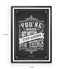 Lab No.4 - The Quotography Department Paper & PU Frame 11.9 x 16.7 Inch Don Draper Quote Paper Framed poster