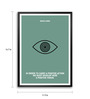 Lab No.4 - The Quotography Department Paper & PU Frame 11.9 x 16.7 Inch Dalai Lama Quote Framed poster