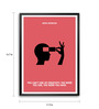 Lab No.4 - The Quotography Department Paper & PU Frame 11.9 x 16.7 Inch Maya Angelou Quote Framed poster