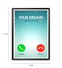 Lab No.4 - The Quotography Department Paper & PU Frame 11.9 x 16.7 Inch Dream Calling Framed poster