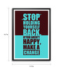 Lab No.4 - The Quotography Department Paper & PU Frame 11.9 x 16.7 Inch Make A Change Framed poster