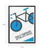 Lab No.4 - The Quotography Department Paper & PU Frame 11.9 x 16.7 Inch Lance Armstrong Quote Framed poster