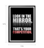 Lab No.4 - The Quotography Department Paper & PU Frame 11.9 x 16.7 Inch Motivational Quote Framed poster