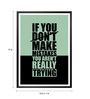 Lab No.4 - The Quotography Department Paper & PU Frame 12 x 1 x 17 Inch If You Don't Make Mistakes Gym Quote Framed Poster