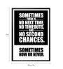 Lab No.4 - The Quotography Department Paper & PU Frame 12 x 1 x 17 Inch Sometimes Now Or Never Gym Quote Framed Poster
