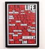 Lab No.4 - The Quotography Department Paper & PU Frame 13 x 0.7 x 17.5 Inch Motivational Words Framed Poster