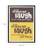 Lab No.4 - The Quotography Department Paper & PU Frame 13 x 1 x 17.5 Inch A Good Friend Will Laugh At The Things Friendship Gift Framed Poster