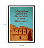 Lab No.4 - The Quotography Department Paper & PU Frame 13 x 1 x 17.5 Inch Architecture Speak Of Its Time & Place Quote Framed Poster
