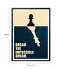 Lab No.4 - The Quotography Department Paper & PU Frame 13 x 1 x 17.5 Inch Dream The Impossible Dream Business Quote Framed Poster