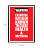 Lab No.4 - The Quotography Department Paper & PU Frame 13 x 1 x 17.5 Inch Exercise & Fitness Gym Decor Inspirational Framed Poster
