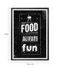 Lab No.4 - The Quotography Department Paper & PU Frame 13 x 1 x 17.5 Inch Food Is Always Fun Restaurant Wall Decor Quote Framed Poster