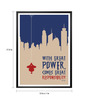 Lab No.4 - The Quotography Department Paper & PU Frame 13 x 1 x 17.5 Inch Great Power Comes Great Responsibility Voltaire Quote Framed Poster