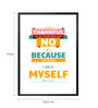 Lab No.4 - The Quotography Department Paper & PU 13 x 1 x 17.5 Inch I Am Thankful To All Those Albert Einstein Inspirational Quote Typography Poster