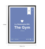 Lab No.4 - The Quotography Department Paper & PU Frame 13 x 1 x 17.5 Inch Relationship With Gym Inspirational Humour Quote Framed Poster