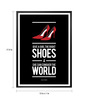Lab No.4 - The Quotography Department Paper & PU Frame 13 x 1 x 17.5 Inch Right Shoes For Girl Marilyn Monroe's Style Quote Framed Poster
