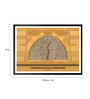 Lab No.4 - The Quotography Department Paper & PU Frame 13 x 1 x 17.5 Inch Sidi Saiyyed Mosque Detail Makes Design Quote Framed  Poster