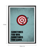 Lab No.4 - The Quotography Department Paper & PU Frame 13 x 1 x 17.5 Inch Sometimes You Win & Learn Business Quote Framed Poster