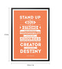 Lab No.4 - The Quotography Department Paper & PU 13 x 1 x 17.5 Inch Stand Up, Be Bold, Be Strong Motivational Inspirational Typography S Framed Poster