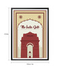 Lab No.4 - The Quotography Department Paper & PU 13 x 1 x 17.5 Inch The India Gate , New Delhi Monuments Office Wall Decor Typography Framed Poster