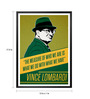 Lab No.4 - The Quotography Department Paper & PU Frame 13 x 1 x 17.5 Inch Vince Lombardi Minimalist Quote Framed Poster