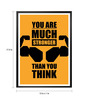 Lab No.4 - The Quotography Department Paper & PU Frame 13 x 1 x 17.5 Inch You Are Much Stronger Gym & Fitness Motivational Typography Framed Poster