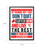 Lab No.4 - The Quotography Department Polyurethane & Paper 16.7 x 11.9 Inch Sports Motivational Quotes Framed Poster - Set of 3