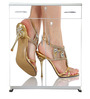 Lady Legs Shoe Rack in White Colour by BigSmile