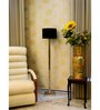 Lamp Post Black Poly Cotton Contemprarary Floor Lamp