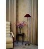 Lamp Post Maroon Poly Cotton Zig Zag Floor Lamp