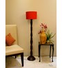Lamp Post Red Poly Cotton Floor Lamp