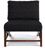 Langston Arm Chair in Charcoal Black Colour by HomeHQ