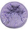 ORGANIC COTTON  Lap Pouffe in Blue & White Colour by Reme