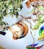 ORGANIC COTTON Lap Pouffe in Orange & Multicolour by Reme